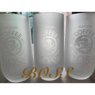 ☆新品☆BOSS coffee suntory グラス  ☆3個セット☆(グラス/カップ)