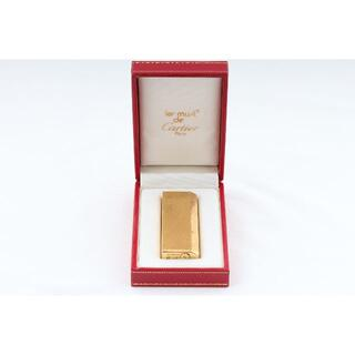 カルティエ(Cartier)のカルティエ ヴィンテーカルティエ ジ ガスライター 着火確認済 (N03946)(タバコグッズ)