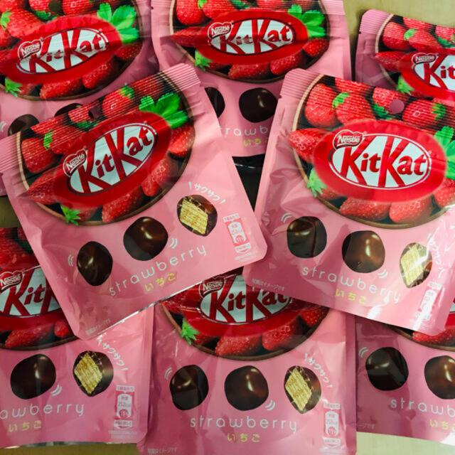 Nestle(ネスレ)のキットカット いちご 8袋 新品未開封 まとめ売り 食品/飲料/酒の食品(菓子/デザート)の商品写真