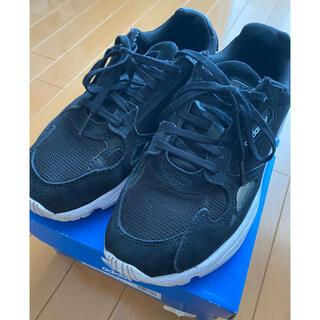 アディダス(adidas)の【アディダス】falcon ファルコン 24.5cm 黒 スニーカー 箱あり(スニーカー)