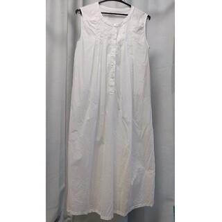 ムジルシリョウヒン(MUJI (無印良品))の授乳服 無印良品 M~L  白(マタニティワンピース)