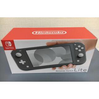 ニンテンドースイッチ(Nintendo Switch)の新品 未開封品Nintendo Switch Lite  グレー(家庭用ゲーム機本体)