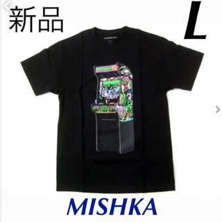 【新品】MISHKA ミシカ メンズ 半袖グラフィックTシャツ ブラック (L)