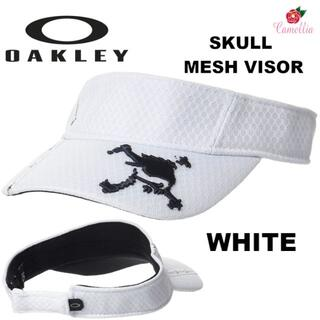 オークリー(Oakley)の新品 OAKLEY オークリー スカル メッシュ サンバイザーWH(サンバイザー)