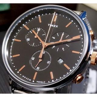 タイメックス(TIMEX)のタイメックス Fairfield ブラック×シルバー INDIGLO ラスト1!(腕時計(アナログ))