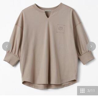 シマムラ(しまむら)のterawear emu キーネックTシャツ M(Tシャツ(半袖/袖なし))