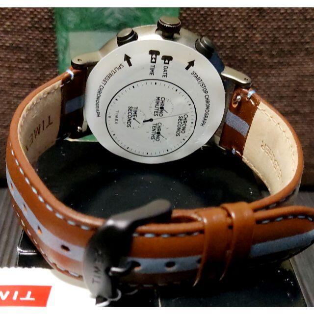 TIMEX(タイメックス)のタイメックス Fairfield ネイビー×ブラウン INDIGLO ラスト1! メンズの時計(腕時計(アナログ))の商品写真