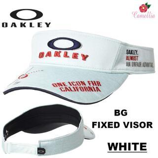 オークリー(Oakley)の新品 OAKLEY オークリー メンズ ゴルフ BG サンバイザーWH(サンバイザー)