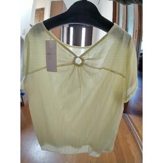 エニィスィス(anySiS)のエニシィス  タグ付きリング可愛い半袖ブラウス(Tシャツ(半袖/袖なし))