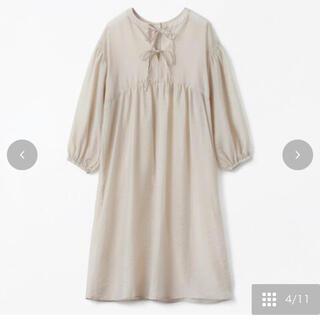 シマムラ(しまむら)のterawear emu シアーワンピース M 淡茶(ロングワンピース/マキシワンピース)