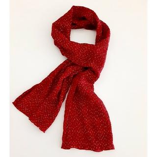 ロートレアモン(LAUTREAMONT)のATTRIBIS 小花 スカーフ レッド 日本製(バンダナ/スカーフ)