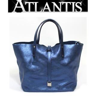 ティファニー(Tiffany & Co.)のティファニー リバーシブルハンドバッグ メタリックブルー×ネイビー【49970】(ハンドバッグ)
