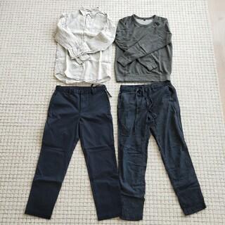 ユニクロ(UNIQLO)のユニクロ 麻シャツ トレーナー 綿パンツ Sサイズ 4点セット(シャツ)