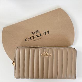 コーチ(COACH)の大人気 COACH 長財布 ベージュ(財布)