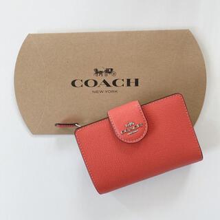 コーチ(COACH)のCOACH 折り財布 オレンジ(財布)