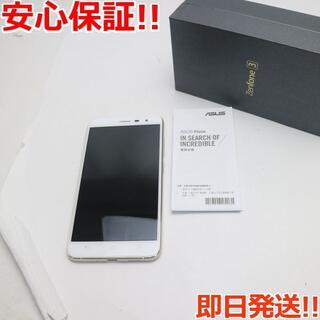 ゼンフォン(ZenFone)の美品 SIMフリー zenfone 3 ZE552KL ホワイト (スマートフォン本体)