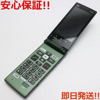 キョウセラ(京セラ)の 保証良品中古 au KYF36 かんたんケータイ グリーン 白ロム(携帯電話本体)