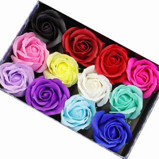 ★速達発送★12色、色指定OK!ソープフラワー【薔薇】花材(大) (その他)
