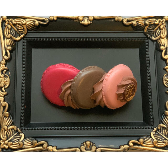 Q-pot.(キューポット)のHEXENHAUS マカロンバレッタチョコ ハンドメイドのアクセサリー(ヘアアクセサリー)の商品写真