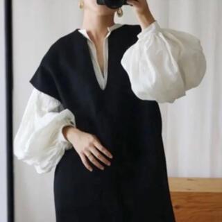 プラージュ(Plage)の美品★アエレ aere V-neck wool vest Vネックベスト(ベスト/ジレ)