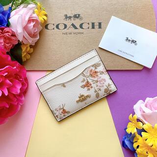 COACH - 新品♡coach コーチ 白 花柄 カードケース 定期入れ おしゃれ