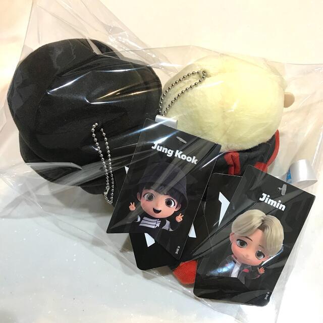 防弾少年団(BTS)(ボウダンショウネンダン)のTinyTAN BTS  タイニータン寝そべりぬいぐるみ グクジミン 2個セット エンタメ/ホビーのおもちゃ/ぬいぐるみ(ぬいぐるみ)の商品写真