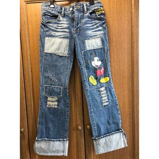ディズニー(Disney)のミッキー絵柄付き ジーンズ(デニム/ジーンズ)