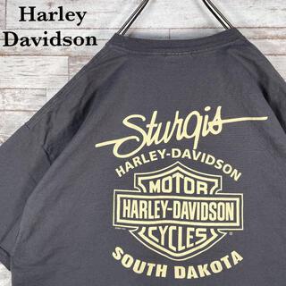 Harley Davidson - 【古着】ハーレーダビッドソン 両面 ビッグプリント ポケット付 Tシャツ XL