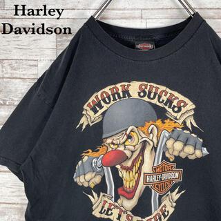Harley Davidson - 【古着】メキシコ製 ハーレーダビッドソン トランプ ビッグプリント Tシャツ