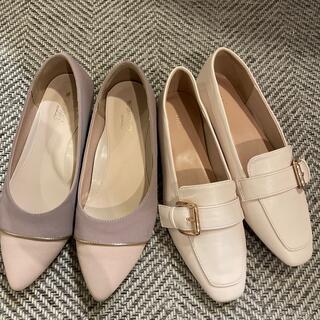 シマムラ(しまむら)の25センチ ローヒールシューズ2点 しまむら(ローファー/革靴)