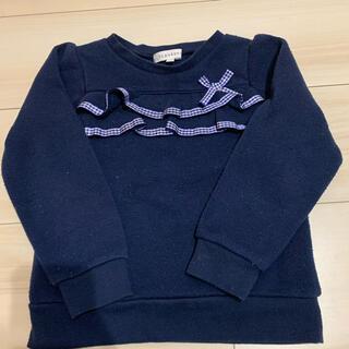 サンカンシオン(3can4on)のサンカンシオン  ネイビー トレーナー  100(Tシャツ/カットソー)