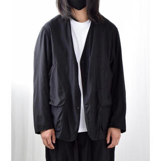 コモリ(COMOLI)の美品 COMOLI 21ss コットンサテン ハンティングジャケット コモリ 2(ノーカラージャケット)