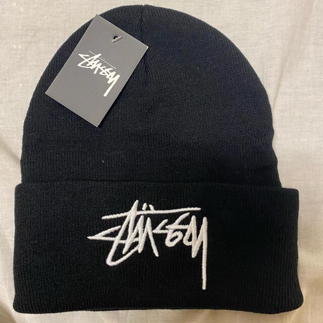 STUSSY(ステューシー)のストゥーシー ニット帽 stussy 黒 新品 メンズの帽子(ニット帽/ビーニー)の商品写真