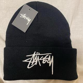 STUSSY - ストゥーシー ニット帽 stussy 黒 新品