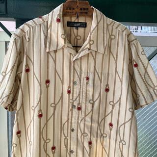 Jean-Paul GAULTIER - GAULTIER HOMME 総柄シャツ オープンカラーシャツ アートシャツ