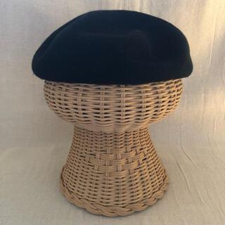ジーユー(GU)のGU サマーベレー帽(黒色)(ハンチング/ベレー帽)