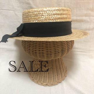 ニコアンド(niko and...)のnikoand イタリア製 カンカン帽(麦わら帽子/ストローハット)