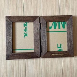 木製 フォトフレーム 写真立て * 2面(写真額縁)