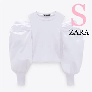 ZARA - 12 ZARA ザラ 新品 コントラストトップス S