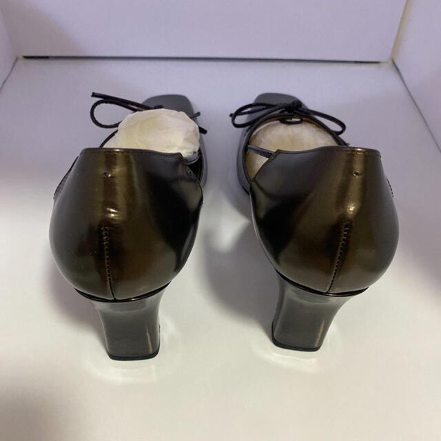 Pitti(ピッティ)のpitti ピッティ 新品未使用 22.5cm パンプス ヒール ダークブラウン レディースの靴/シューズ(ハイヒール/パンプス)の商品写真