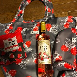カルディ(KALDI)のカルディ いちごバッグセット2021(ワイン)