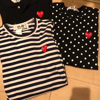 ブラックコムデギャルソン(BLACK COMME des GARCONS)のPLAY COMME des GARCONS  HEART TEE    (Tシャツ/カットソー(半袖/袖なし))
