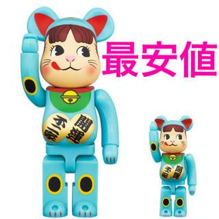 BE@RBRICK 招き猫 ペコちゃん 青蓄光 100% & 400%(その他)