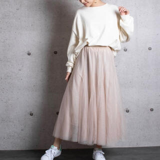 Lala Born ボリュームたっぷりチュールスカート 2019SS(ロングスカート)