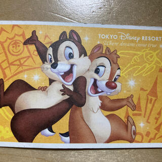 ディズニー(Disney)のディズニーランド 使用済みチケット 4月1日 4/1 グッズ購入用 物販用(遊園地/テーマパーク)