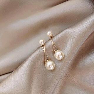 アーカー(AHKAH)のcross line pearl pierce ◯18k & s925 post(ピアス)