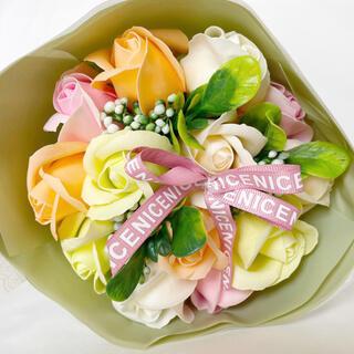 新品 シャボンブーケ ローズ バラ 薔薇 造花 シャボンフラワー(その他)