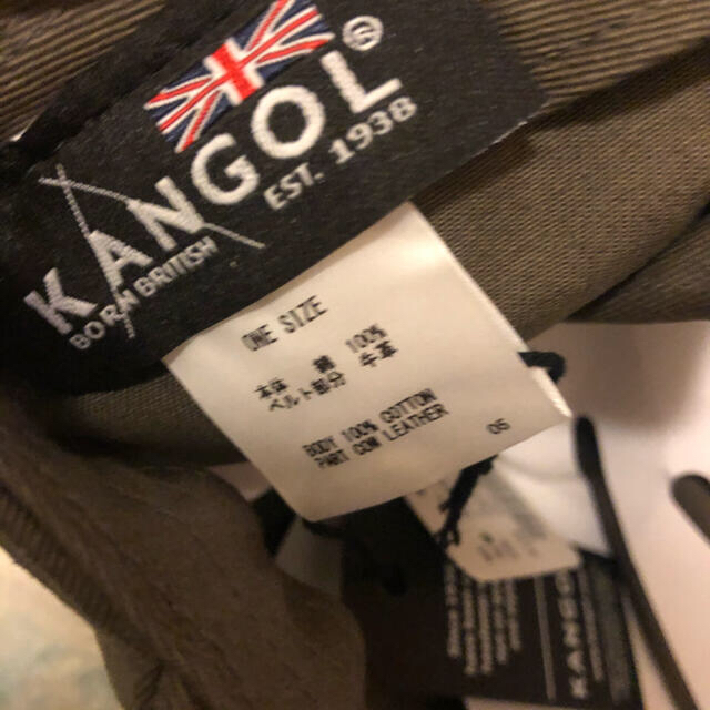 KANGOL(カンゴール)のカンゴール KANGOL 牛革ベルト cap キャップ 帽子 メンズの帽子(キャップ)の商品写真