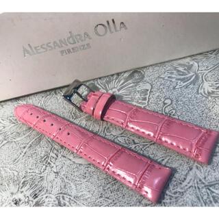 アレッサンドラオーラ(ALESSANdRA OLLA)の★ 新品 Alessandra Olla 本革 時計ベルト 16mm ピンク(腕時計)