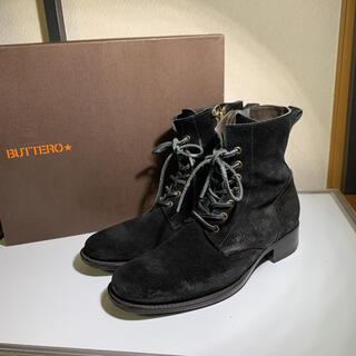ブッテロ(BUTTERO)の美品 BUTTERO ブッテロ レースアップブーツ   サイズ39(ブーツ)